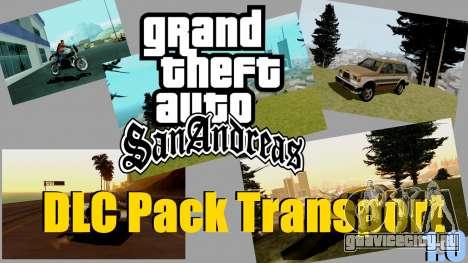 Абсолютно новый транспорт и его покупка для GTA San Andreas