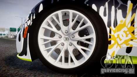 Bugatti Veyron Super Sport 2011 [EPM] Ken Block для GTA 4 вид сзади