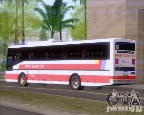 Nissan Diesel UD Peoples Transport Corporation для GTA San Andreas вид сзади