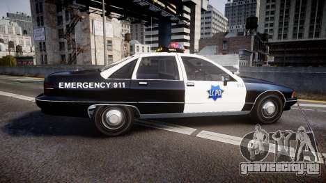 Chevrolet Caprice 1990 LCPD [ELS] Traffic для GTA 4 вид слева