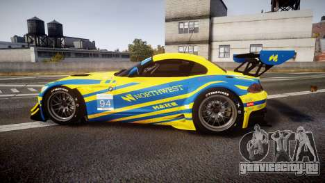 BMW Z4 GT3 2012 Northwest для GTA 4 вид слева