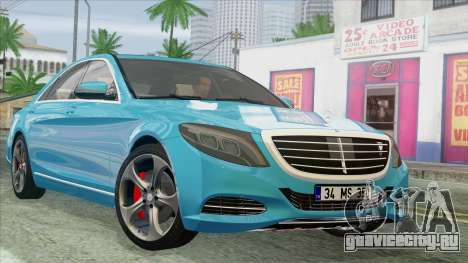 Mercedes-Benz S350 2015 Bluetec для GTA San Andreas