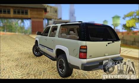GMC Yukon XL 2003 v.2 для GTA San Andreas вид сзади слева