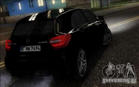 Mercedes-Benz A45 AMG для GTA San Andreas вид сзади слева