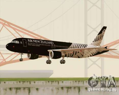 Airbus A320-200 Air New Zealand для GTA San Andreas вид слева