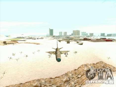 Миг 21 ВВС СССР для GTA San Andreas вид сзади