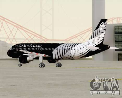 Airbus A320-200 Air New Zealand для GTA San Andreas вид сбоку