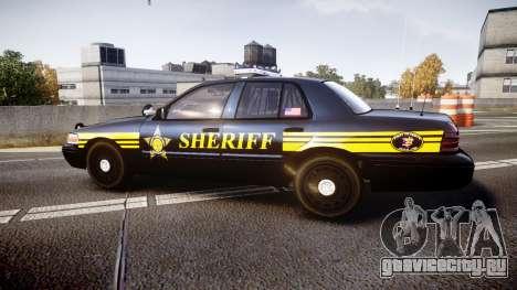 Ford Crown Victoria Sheriff [ELS] black для GTA 4 вид слева