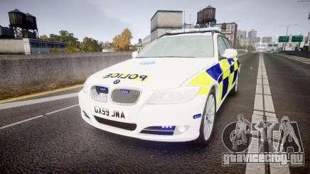 BMW 325d E91 2009 Sussex Police [ELS] для GTA 4