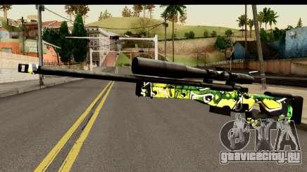Grafiti Sniper Rifle для GTA San Andreas