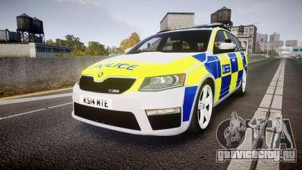 Skoda Octavia Combi vRS 2014 [ELS] Traffic Unit для GTA 4