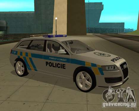 Audi RS6 Combi Police Czech Republic для GTA San Andreas вид сзади слева