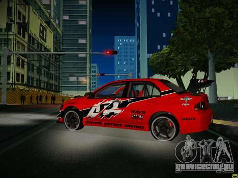 Mitsubishi Lancer Tokyo Drift для GTA San Andreas вид сбоку