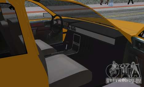 Renault 12 SW Taxi для GTA San Andreas вид изнутри