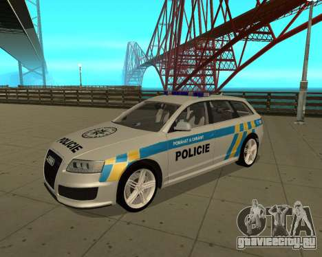 Audi RS6 Combi Police Czech Republic для GTA San Andreas