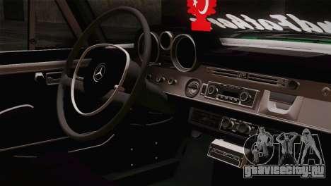 Mercedes-Benz 300 SEL DRY Garage для GTA San Andreas вид сзади