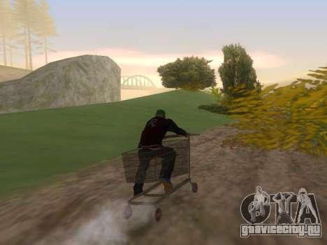 Shopping Cart для GTA San Andreas вид слева