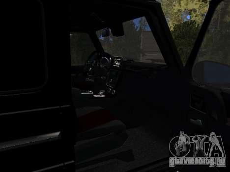 Mercedes-Benz G63 AMG для GTA San Andreas вид сзади