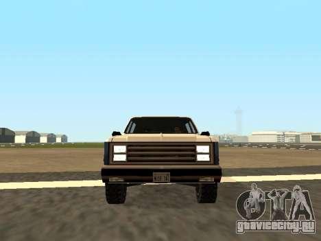Rancher Four Door для GTA San Andreas вид сзади