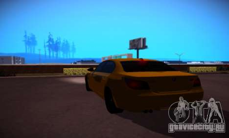 BMW M5 Gold для GTA San Andreas вид справа