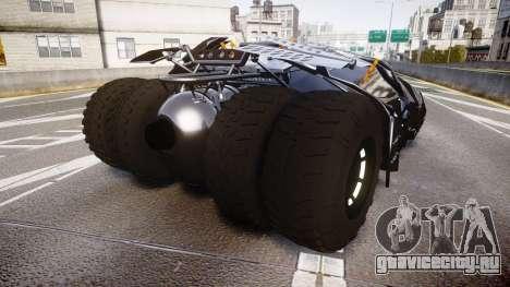 Batman tumbler [EPM] для GTA 4 вид сзади слева