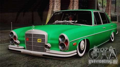 Mercedes-Benz 300 SEL DRY Garage для GTA San Andreas