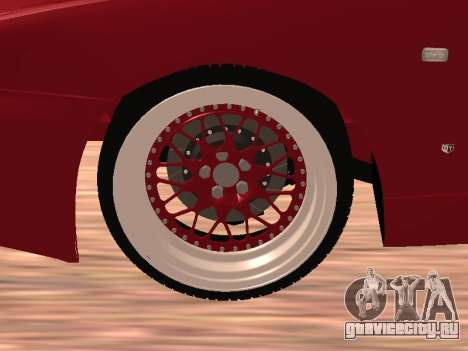 Nissan Skyline для GTA San Andreas вид изнутри
