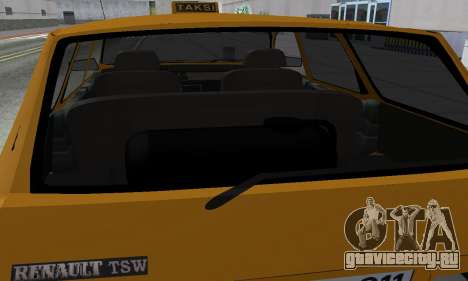 Renault 12 SW Taxi для GTA San Andreas вид снизу