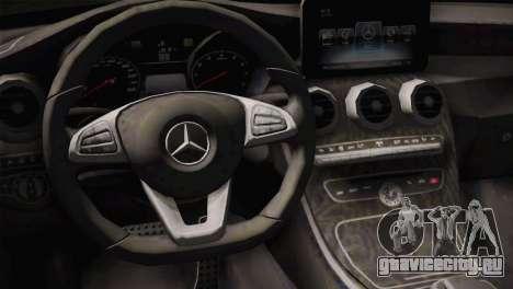 Mercedes-Benz C250 AMG Edition 2014 SA Plate для GTA San Andreas вид справа