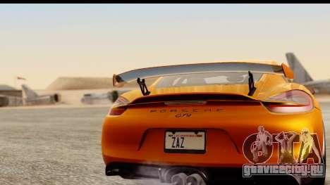 Porsche Cayman GT4 981c 2016 для GTA San Andreas вид справа