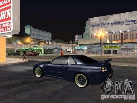 Nissan Skyline для GTA San Andreas вид сбоку
