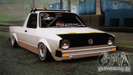 Volkswagen Caddy DRY Garage для GTA San Andreas