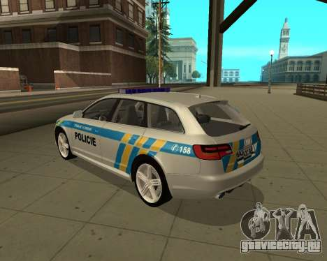 Audi RS6 Combi Police Czech Republic для GTA San Andreas вид слева