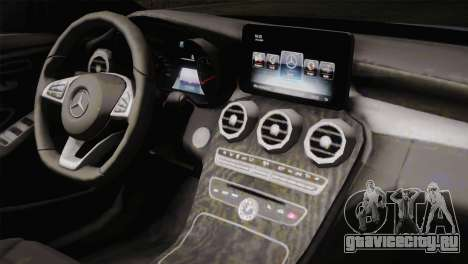 Mercedes-Benz C250 AMG Edition 2014 SA Plate для GTA San Andreas