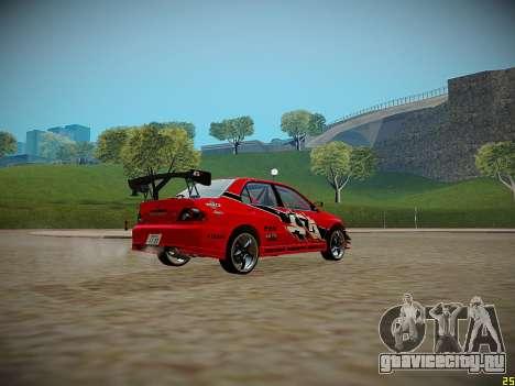 Mitsubishi Lancer Tokyo Drift для GTA San Andreas вид слева