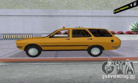 Renault 12 SW Taxi для GTA San Andreas вид сзади слева