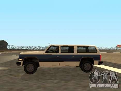 Rancher Four Door для GTA San Andreas вид сбоку