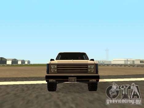 Rancher Four Door для GTA San Andreas вид сзади слева