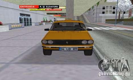 Renault 12 SW Taxi для GTA San Andreas вид справа