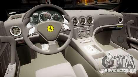 Ferrari 575M Maranello 2002 для GTA 4 вид сзади