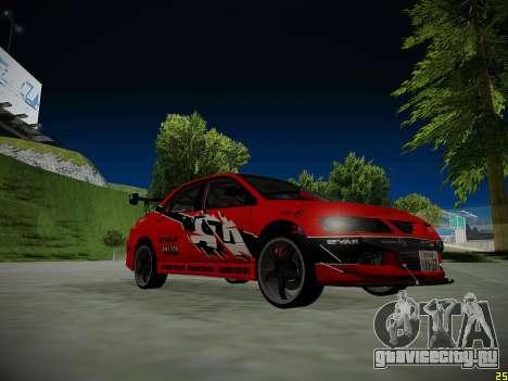 Mitsubishi Lancer Tokyo Drift для GTA San Andreas двигатель