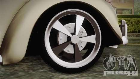Volkswagen Fusca 1974 для GTA San Andreas вид сзади слева