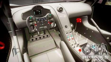 McLaren MP4-12C GT3 Haruhi Itasha для GTA 4 вид сзади