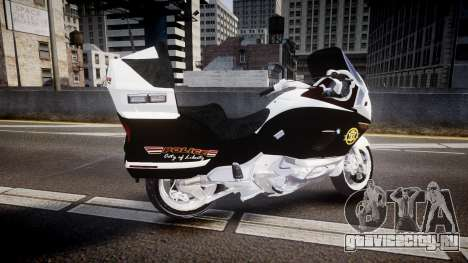 BMW K1200LT Police [ELS] для GTA 4 вид слева
