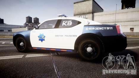 Dodge Charger 2010 LCPD K9 [ELS] для GTA 4 вид слева