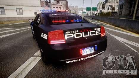 Dodge Charger 2010 Police K9 [ELS] для GTA 4 вид сзади слева