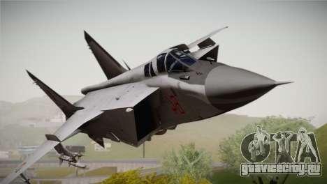 MIG 31 Estovakian Air Force для GTA San Andreas вид сзади