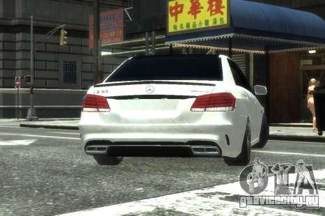 Mercedes-Benz E63 W212 AMG для GTA 4 вид сзади
