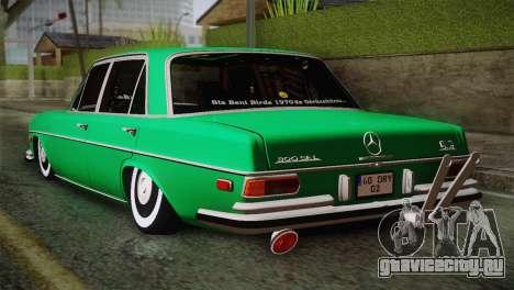 Mercedes-Benz 300 SEL DRY Garage для GTA San Andreas вид слева