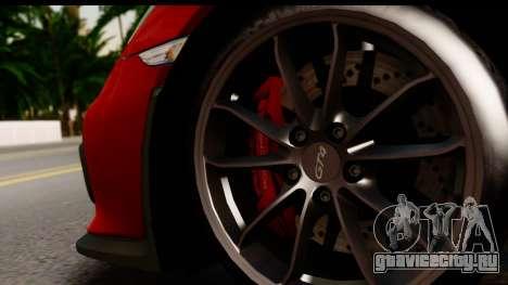 Porsche Cayman GT4 981c 2016 для GTA San Andreas вид изнутри